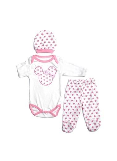 By Bebek Odam Yıldızlı Mickey 3'lü Bebek Takım Renkli